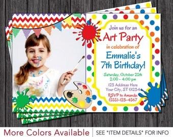 Art Birthday Invitation - Art Party Invitation