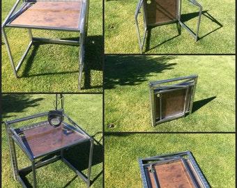Welded Steel Industrial style Folding Desk