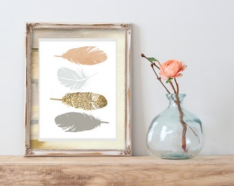 Feather Print - Feather Art Print - Instant Download