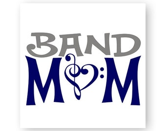 Band Mom, Music, Marching Band, Music Note, TShirt Design, Cut File, svg, pdf, eps, png, dxf
