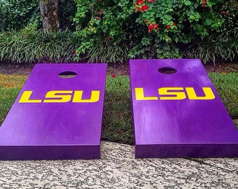 LSU cornhole boards