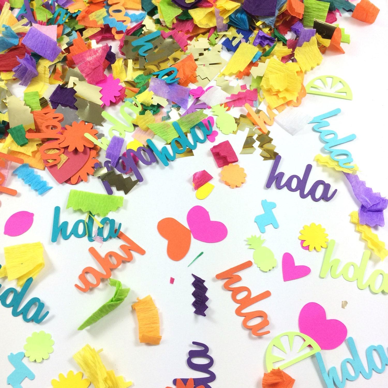 Hola confetti fiesta decorations pi ata filling party for Decoration pinata