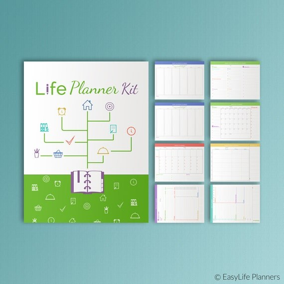 LIFE PLANNER KIT Printable Letter Size Inserts Binder Daily