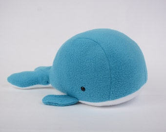 Whale, Stuffed Blue Whale, Whale Stuffed Animal, Whale Plush, Whale Plushie, Whale Stuffed Toy