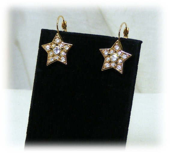 STUDDED STAR EARRINGS . . Never Worn