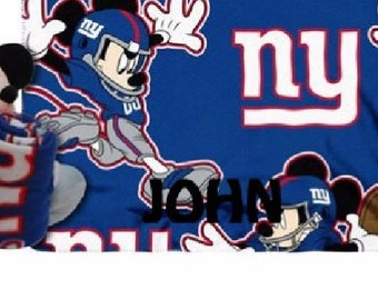 Footbal New York GIANTS Fleece Throw Blanket & Mouse Hugger - Personalized