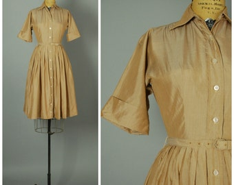 Dulce de Leche dress • 1950s shirtwaist dress