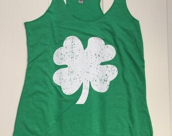Shamrock. Shamrock Tank. Shamrock Shirt. Shamrock Tee. St. Patricks Day. Holiday Tanks. Holiday Shirts. St. Patrick's Day Tank Top. Green.