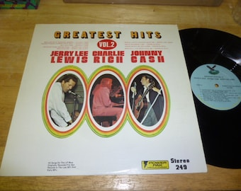 Johnny Cash Jerry Lee Lewis Charlie Rich LP Greatest Hits VOLUME 2 country VINYL