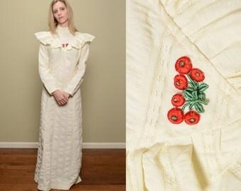 White hippy dress