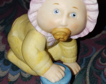 Crawling Baby Cabbage Patch Kid Figurine with Toy and Pacifier 1984, 1984 Edition