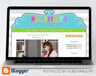 Premade Blogger Template, Mobile Responsive, Teacher Blog Template, Classroom Template - Mrs. Bryant