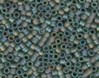 MIYUKI #11 Delica 1282 - Matte Transparent Olive AB - 5 grams