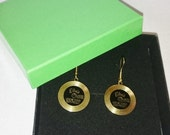 Elvis Presley Love Me Tender Gold Record Earrings Gold Plated, Great Valentines Day Gift Idea