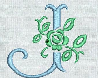 Instant Download Embroidery Machine Fonts Fancy Floral Alphabet Designs Alphabet Pes Format Rose Alphabet Roses Embroidery Design Font