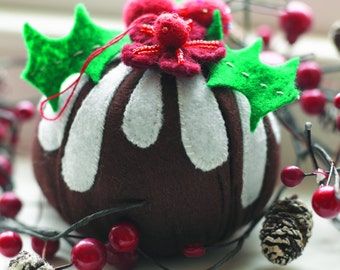 Christmas Pudding Tree Decoration Sewing Pattern Download (802992)