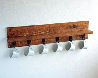 Coffee Mug Rack - Coffee Cup Holder - Coffee Mug Holder  Cup Rack - Coffee Cup Storage