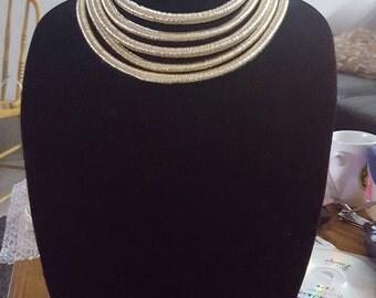 Balmain inspired coil necklace