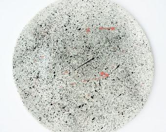 Watercolor Ceramic Dinner Plate// Porcelain Dinnerware // Handmade Ceramics//Perfect Gift for Modern Home
