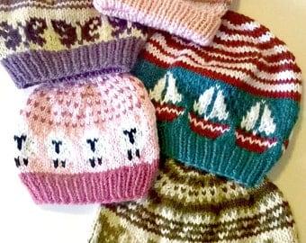 Custom Fair Isle Baby/Child Hat; Custom Knit Hat; Fair Isle Knit Hat