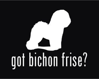 got bichon frise vinyl sticker window decal customise with your pets name free shipping - Frise Vinyle