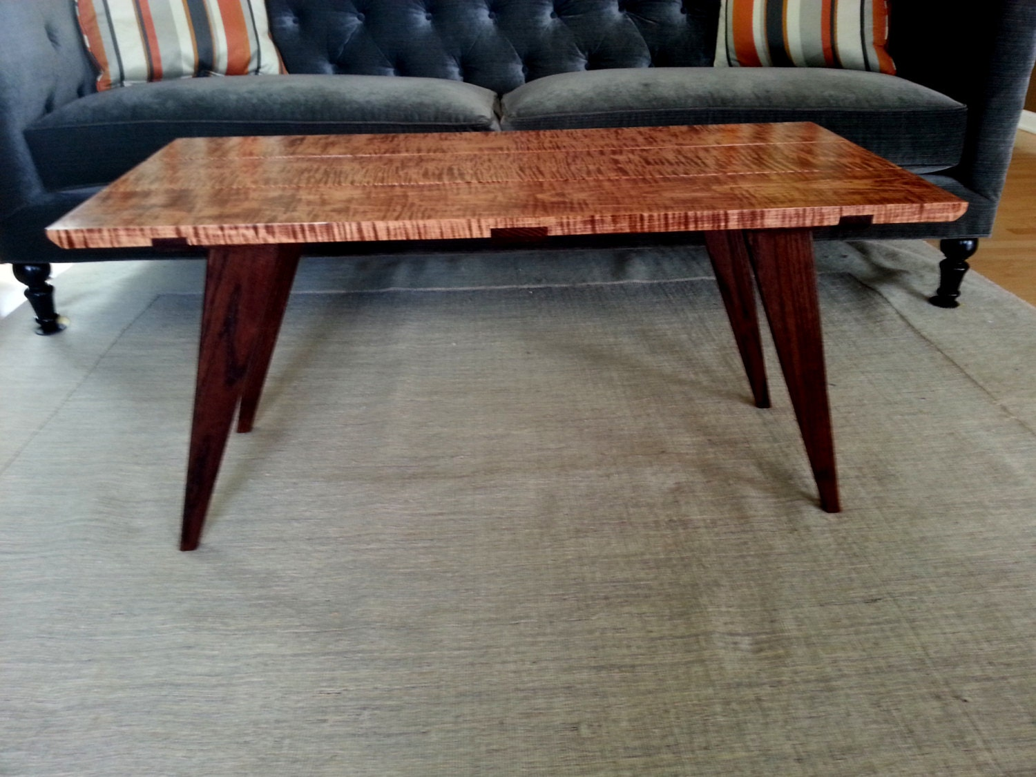 Modern Coffee Table Tiger Maple Coffee Table Curly Maple