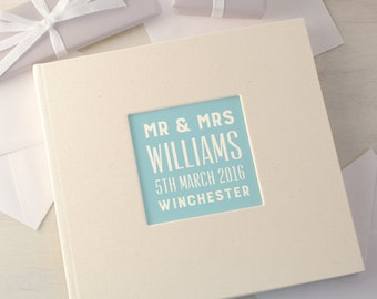 Personalised Typographic Wedding Guest Book