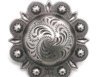 "Berry Concho Antique Silver Screw Back 1-1/4"" 7861-21"