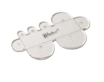 Craftool Round Strap End Acrylic Template 3604-02 by Tandy Leather