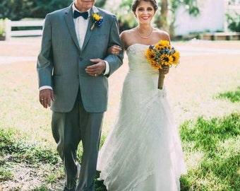Sunflower WEDDING BOUQUET, Hydrangea Bouquet, woodland Bouquet, Bridal Bouquet, Bridal Flowers, Wedding Flowers, Bridal Bouquet