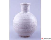 Snow Glazed Pottery Vase: FREE UK Shipping