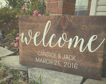 Welcome wedding sign, wedding decor, welcome sign, Wedding Sign