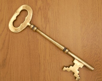 Vintage Large Brass Key / Decorative Wall Hanging