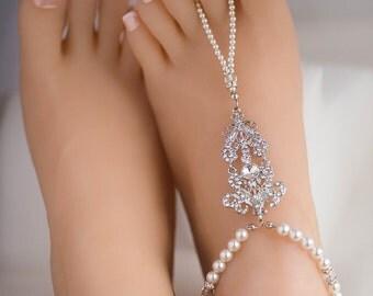 Swarovski Pearl Bridal Bracelet, Silver balls ,Vintage Style CZ Crystal Wedding Bracelet Cuff., Wedding Bridesmaid Bracelet