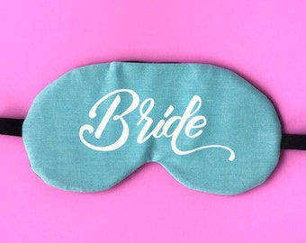 B22 Bride Eye Mask Bride Sleep Mask Bachelorette Eye Mask Wedding Travel Eye Mask Vacation Vacay Jet Setter