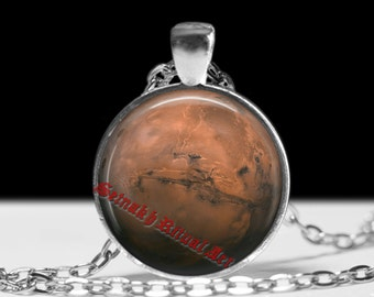 Mars pendant Astrology jewelry Planet necklace Magic jewellery #433.4