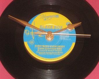 "Black box everybody everybody 7"" vinyl record clock"