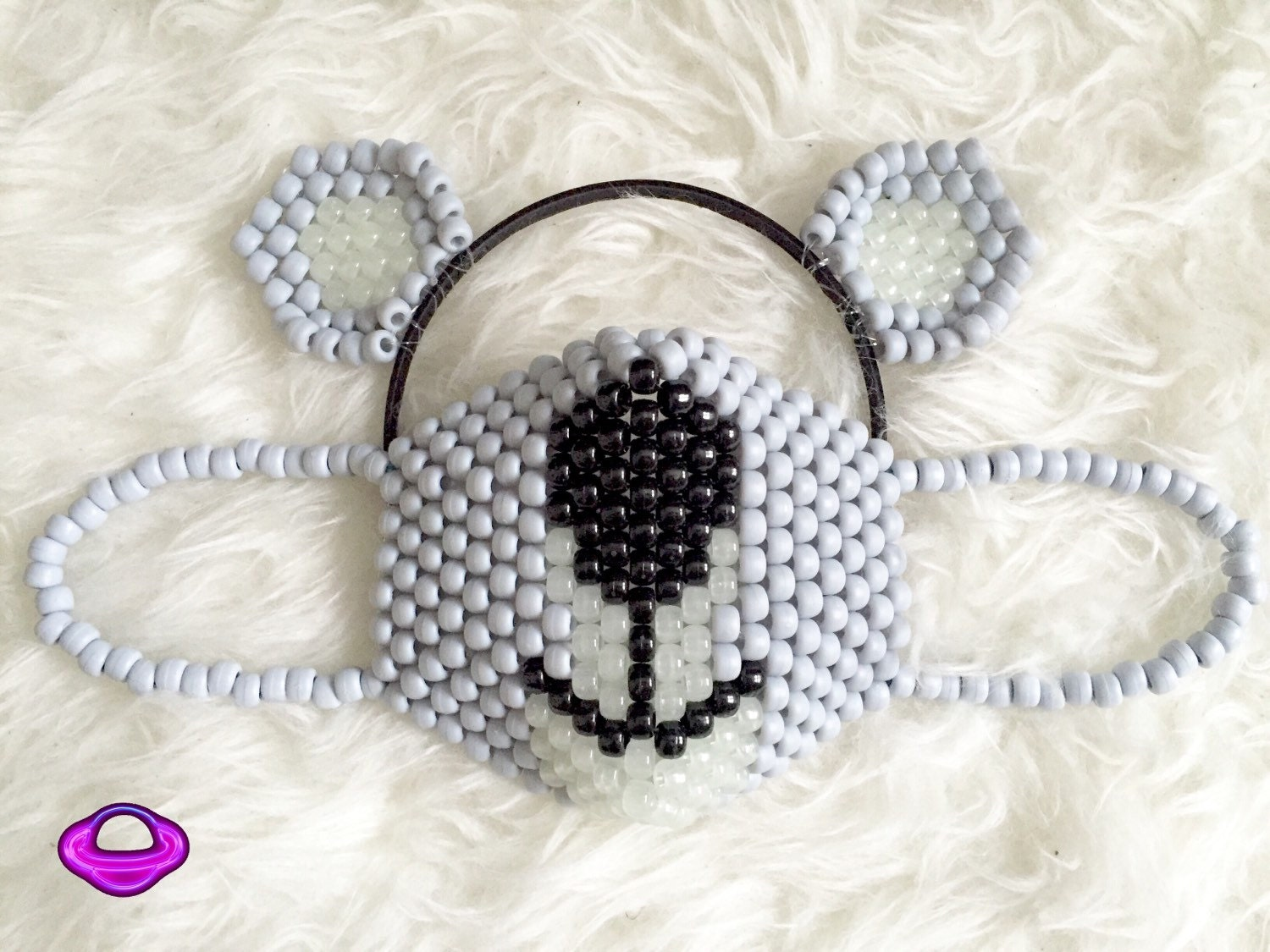 Koala Mask and Ears Kandi Set Koala Kandi Mask Kandi Koala