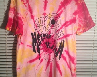 Melted Vision Large Screen Printed/Tie Dyed T-Shirt