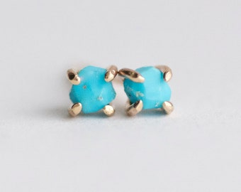 Sleeping Beauty Turquoise Studs. Turquoise Stud Earrings. Turquoise Earrings. Genuine Turquoise Earrings. Sleeping Beauty Turquoise Earrings