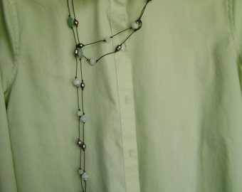 72 inch Lariat with Pearls is Pearl and Gem Stone Bellychain