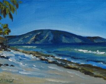 Oahu Beach, Sescape, Original Oil Painting, Landcape
