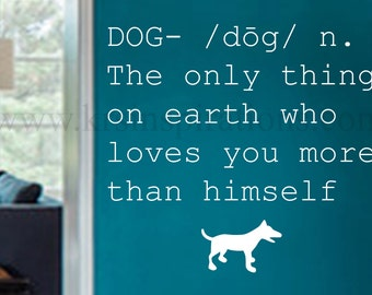 Dog Definition Wall Decal