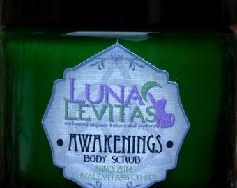 Awakenings - Vegan Organic Body Scrub with Dead Sea Salt,Lemongrass & Ginger