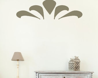 Wall Decals Stickers Fan Border- 3 to 19 inches high  Wall Large Wall Art Wall decor wall borders