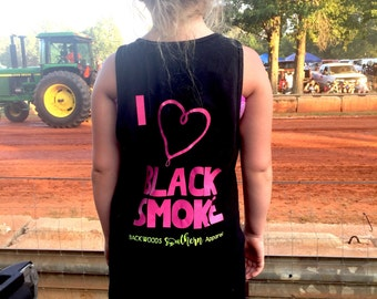 I love black smoke monogram girls tank