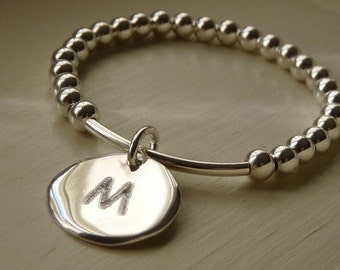 Sterling silver personalized bracelet