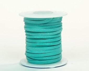Turquoise Deerskin Lacing - (1) 50 foot spool, 1/8th inch lace.  Deerskin lace.