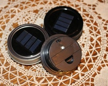 Mason Jar Solar Lid Light - Color Changing LED - Great for Projects and Crafts - Lid Light Changes Color - Metal Ring
