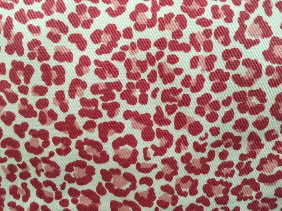 Pink Cheetah Bloomcraft Upholstery Fabric By The Yard